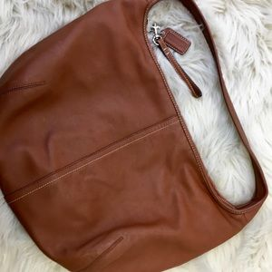 Coach Leather Hobo Copper Handbag.